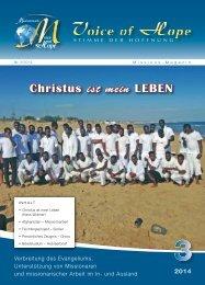 Voice of Hope Magazin 3/2014