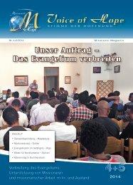 Voice of Hope Magazin 4-5/14