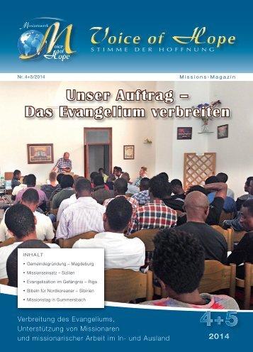 Voice of Hope Magazin 4-5/2014