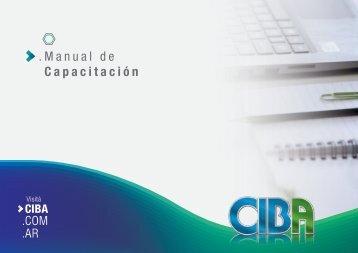 CIBA - Manual de Capacitacion Ene 2018