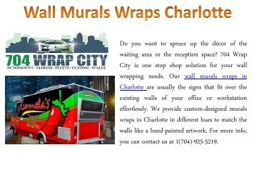 Wall Murals Wraps Charlotte