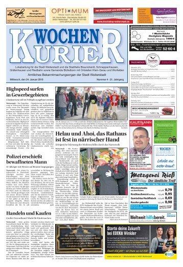 Wochen-Kurier 04/2018 - Lokalzeitung für Weiterstadt und Büttelborn