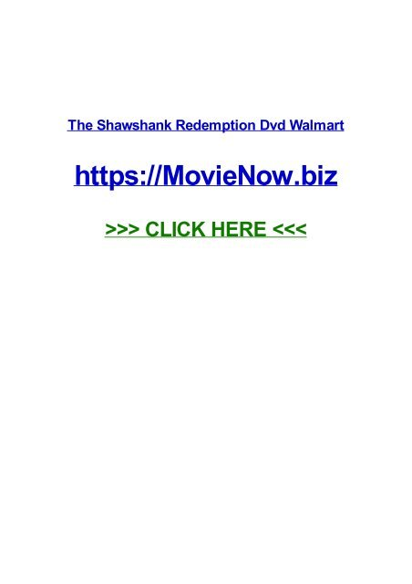The Shawshank Redemption Dvd Walmart