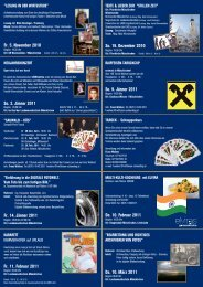 Unser aktueller Veranstaltungsfolder - Kultur AG