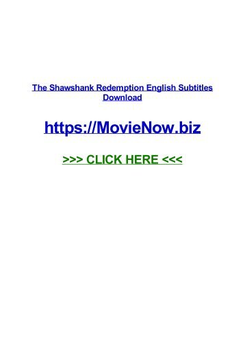 ThE shAWShAnk rEDEmPTioN EnGLiSH sUBtItlEs doWnlOaD