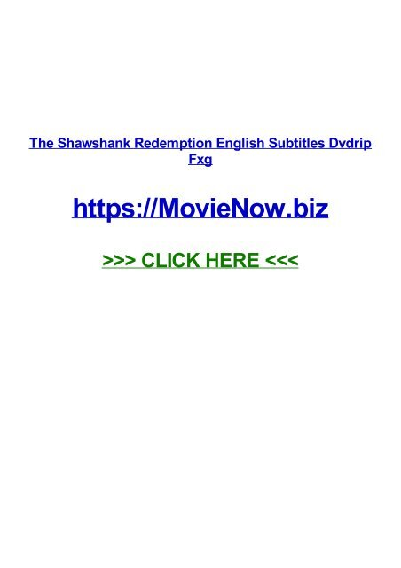 THE FRENCH TÉLÉCHARGER DVDRIP SHAWSHANK REDEMPTION