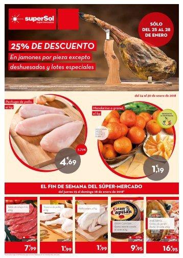 SuperSol supermercados folleto ofertas del 24 al 30 de enero 2018