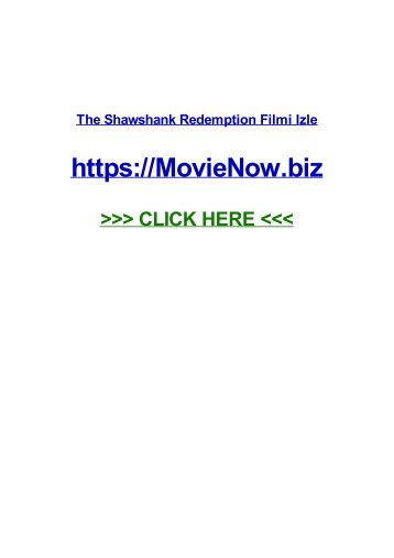 tHE shaWSHAnk RedEMPTiOn fiLmi izlE