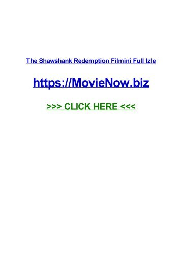 THe sHAWShAnK RedeMPTIoN filmini fuLl IZLE