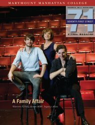 A Family Affair - Marymount Manhattan College