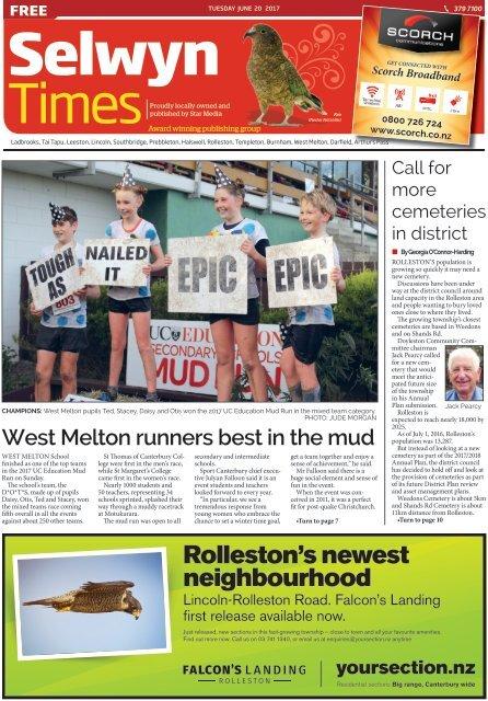 Selwyn Times: June 20, 2017