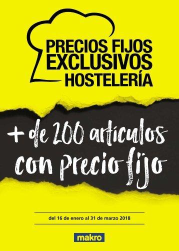 makro ofertas PRECIOS FIJOS EXCLUSIVOS HOSTELERIA hasta 31 de marzo 2018