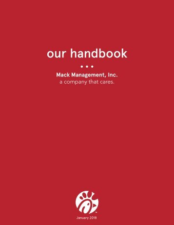 2018 Our Handbook