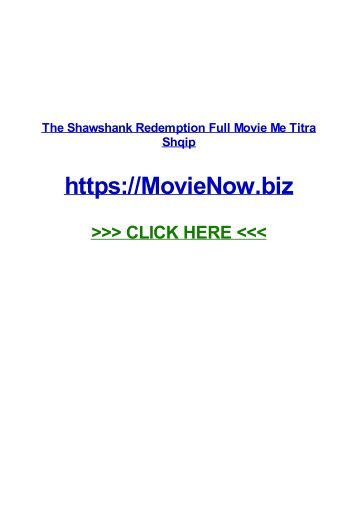 the shAWshANk REdeMPTIOn fulL mOvIE ME TiTRa sHqIp