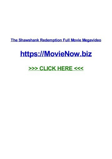 ThE SHawSHank RedemptiOn Full mOvIe mEgavIDeo