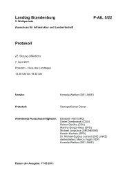 Landtag Brandenburg P-AIL 5/22 Protokoll