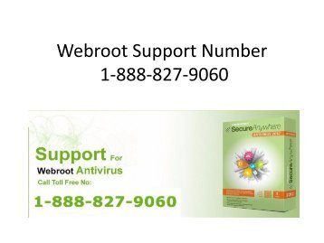 Support for Webroot