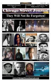 They Will Not Be Forgotten. Chicago Street Journal for January 24, 2018