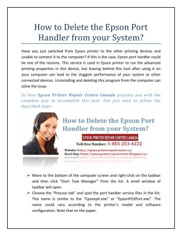 How to Delete the Epson Port Handler from your System