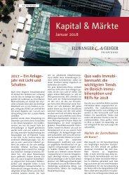 Kapital & Märkte: Ausgabe Januar 2018