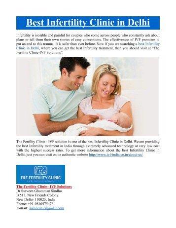 Best Infertility Clinic in Delhi