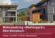 Wohnsiedlung «Mattenpark» Oberdiessbach - Schweizerischer ...