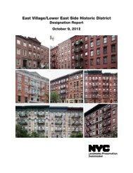 Upper East Side Historic District Designation Report - NYC gov
