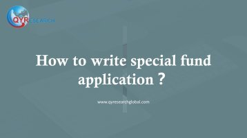 How to write special fund application?