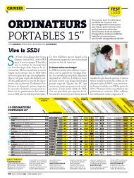 Comparatif ordis. portables