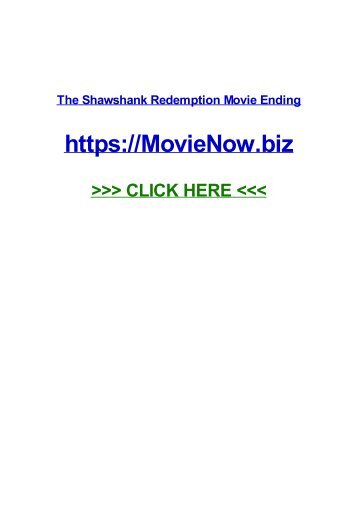 the ShawShanK RedempTIoN Movie enDiNg