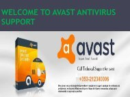 GET AVAST SUPPORT NUMBER IRELAND+353-212340006