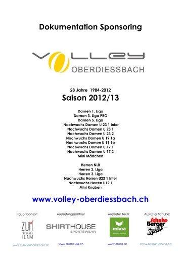 Dokumentation Sponsoring - Volley Oberdiessbach