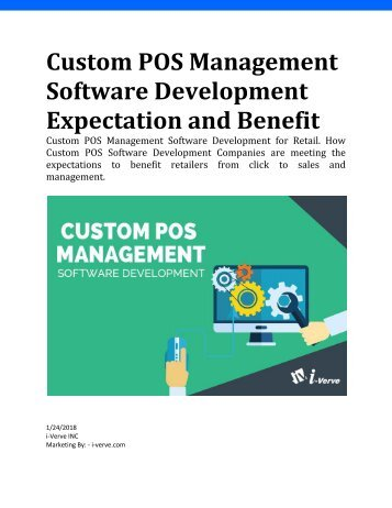 Custom POS Management Software Development Expectation and Benefit