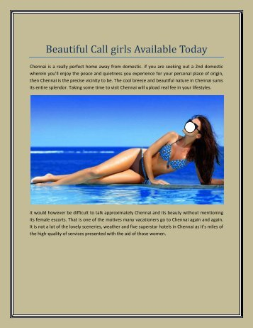 Beautiful Call girls Available Today