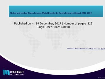 Global and United States Ferrous Metal Powder In-Depth Research Report 2017-2022