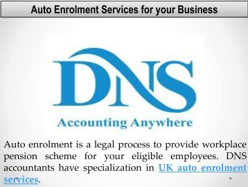 Auto Enrolment Services for your Business