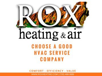 Choose A Good HVAC Service Company