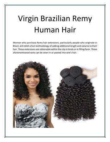 Virgin brazilian remy human hair