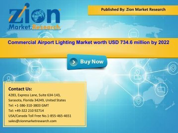 Global Commercial Airport Lighting Market, 2016 – 2022