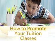 How to Promote Your Tuition Classes