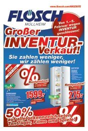 Großer Inventur-Verkauf