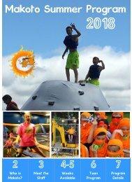 Makoto 2018 Summer Program Brochure