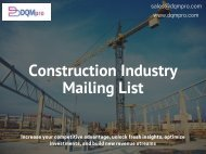 Construction Industry Mailing List   Construction Email List