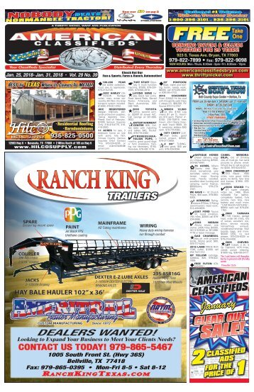 American Classifieds Jan. 25 Edition Bryan/College Station