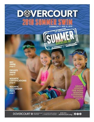 Dovercourt 2018 Summer swim flyer