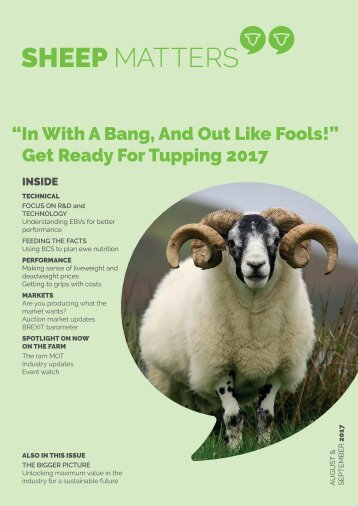 Sheep Matters - August/ September 2017