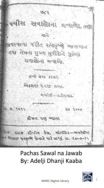 Book 68 from 22-3  Pachas Sawab Na Jawab