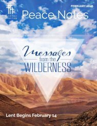 Peace Notes February 2018 - Word of Peace Lutheran Church