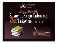 Sasaran Kerja Tahunan & Takwim Bahagian Buku Teks 2018
