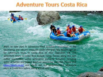 Adventure Tours Costa Rica
